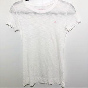 Lilly Pulitzer White T- Shirt Size Small